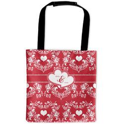 Heart Damask Auto Back Seat Organizer Bag (Personalized)