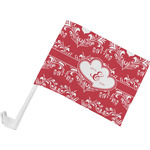 Heart Damask Car Flag (Personalized)