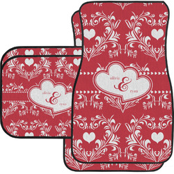 Heart Damask Car Floor Mats (Personalized)