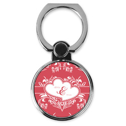 Heart Damask Cell Phone Ring Stand & Holder (Personalized)