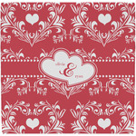 Heart Damask Ceramic Tile Hot Pad (Personalized)