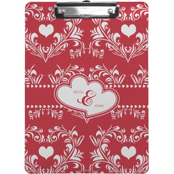 Heart Damask Clipboard (Personalized)