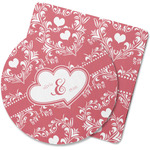 Heart Damask Rubber Backed Coaster (Personalized)