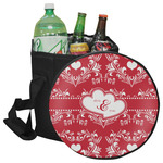 Heart Damask Collapsible Cooler & Seat (Personalized)