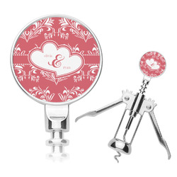 Heart Damask Corkscrew (Personalized)