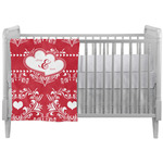 Heart Damask Crib Comforter / Quilt (Personalized)