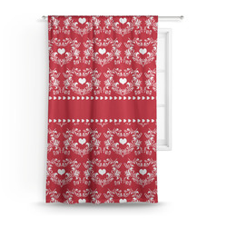 "Heart Damask Curtain - 50""x84"" Panel (Personalized)"
