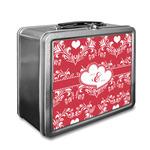 Heart Damask Lunch Box (Personalized)