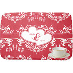 Heart Damask Dish Drying Mat (Personalized)