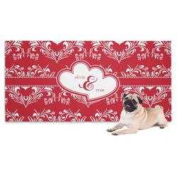 Heart Damask Pet Towel (Personalized)
