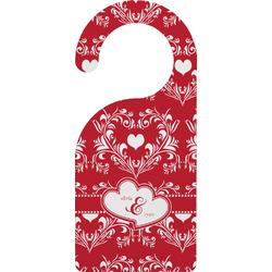 Heart Damask Door Hanger (Personalized)