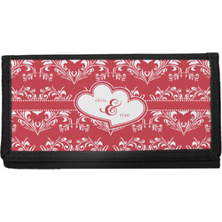Heart Damask Canvas Checkbook Cover (Personalized)