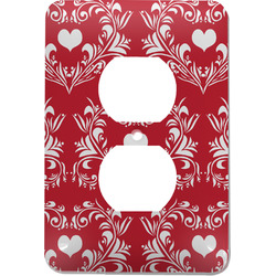 Heart Damask Electric Outlet Plate (Personalized)