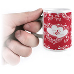 Heart Damask Espresso Cups (Personalized)