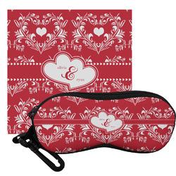 Heart Damask Eyeglass Case & Cloth (Personalized)