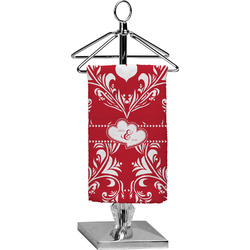 Heart Damask Finger Tip Towel - Full Print (Personalized)