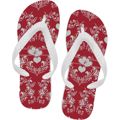 Heart Damask Flip Flops (Personalized)