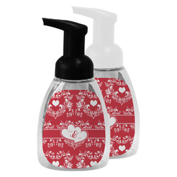 Heart Damask Foam Soap Bottle (Personalized)