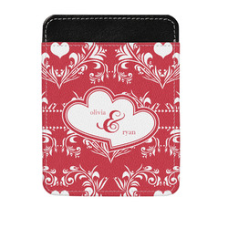 Heart Damask Genuine Leather Money Clip (Personalized)