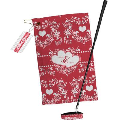 Heart Damask Golf Towel Gift Set (Personalized)