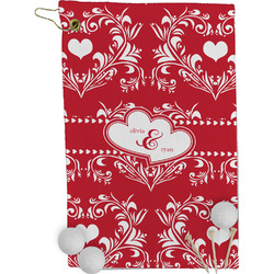 Heart Damask Golf Towel - Full Print (Personalized)