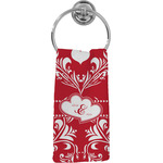 Heart Damask Hand Towel - Full Print (Personalized)