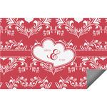 Heart Damask Indoor / Outdoor Rug (Personalized)