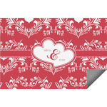 Heart Damask Indoor / Outdoor Rug (Personalized)