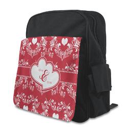 Heart Damask Preschool Backpack (Personalized)