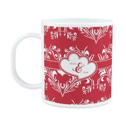 Heart Damask Plastic Kids Mug (Personalized)