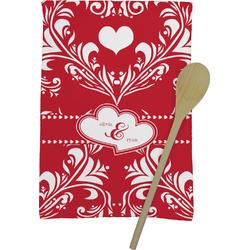 Heart Damask Kitchen Towel - Full Print (Personalized)