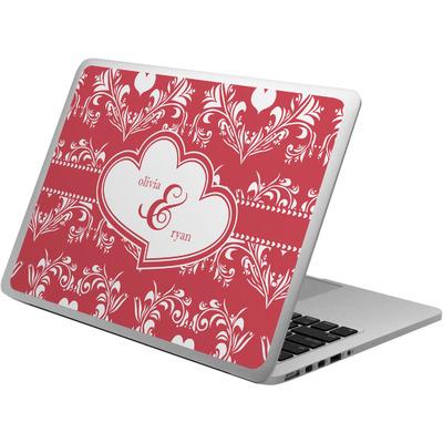 Heart Damask Laptop Skin - Custom Sized (Personalized)