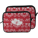 Heart Damask Laptop Sleeve / Case (Personalized)