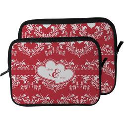 Heart Damask Laptop Sleeve / Case (Personalized)