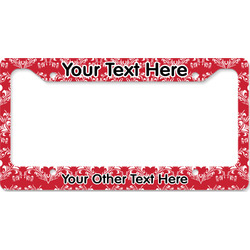 Heart Damask License Plate Frame - Style B (Personalized)
