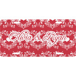 Heart Damask Front License Plate (Personalized)