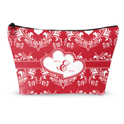 Heart Damask Makeup Bags (Personalized)