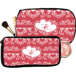 Heart Damask Makeup / Cosmetic Bag (Personalized)