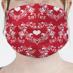 Heart Damask Face Mask Cover (Personalized)
