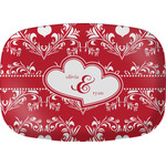 Heart Damask Melamine Platter (Personalized)