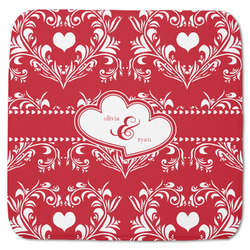 "Heart Damask Memory Foam Bath Mat - 48""x48"" (Personalized)"
