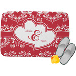Heart Damask Memory Foam Bath Mat (Personalized)