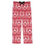 Heart Damask Mens Pajama Pants (Personalized)