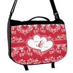 Heart Damask Messenger Bag (Personalized)