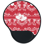 Heart Damask Mouse Pad with Wrist Support