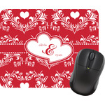 Heart Damask Mouse Pad (Personalized)