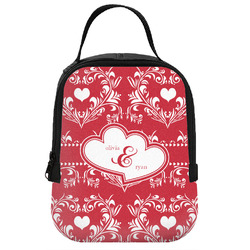 Heart Damask Neoprene Lunch Tote (Personalized)