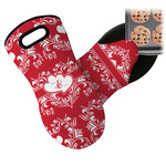 Heart Damask Neoprene Oven Mitt (Personalized)