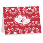 Heart Damask Note cards (Personalized)