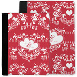 Heart Damask Notebook Padfolio w/ Couple's Names